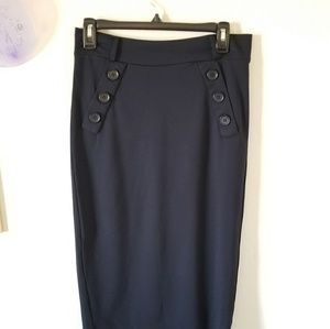Carmen Marc Valvo blue pencil skirt Size 10